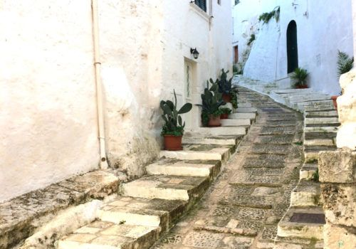 Ostuni white steps
