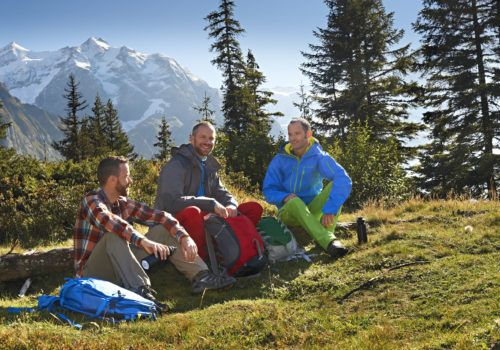 Gay hiking trip in the Alps