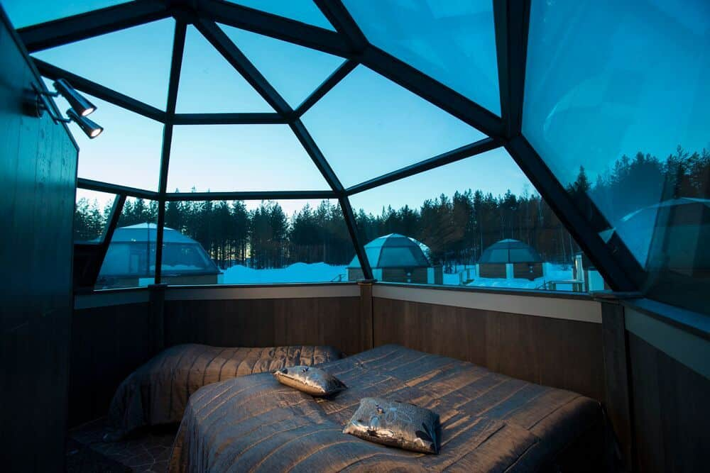 Glass igloo hotel Lapland