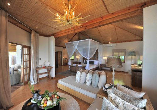 Denis Private Island Beach Villa Bedroom