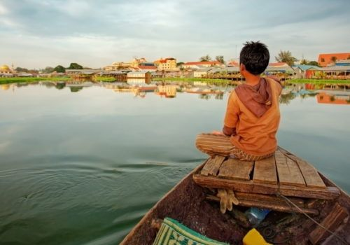 Tonle Sap young boy Cambodia