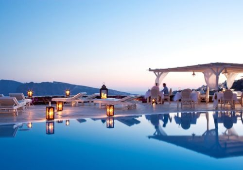 Canaves Oia Suites restaurant