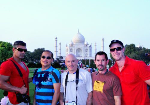 Gay group visit to Taj Mahal India