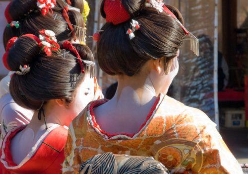 Geisha At Kiyomizu temple in Kyoto