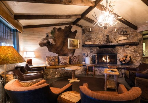 Headquarters fireplace – Colorado Dude Ranch