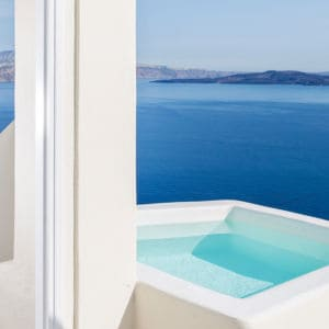 Canaves Oia Suites honeymoon suite