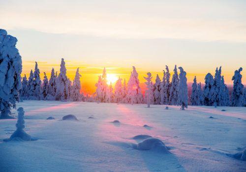 Kakslauttanen Sunset January