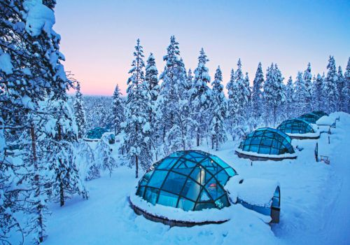 Kakslauttanen glass igloo