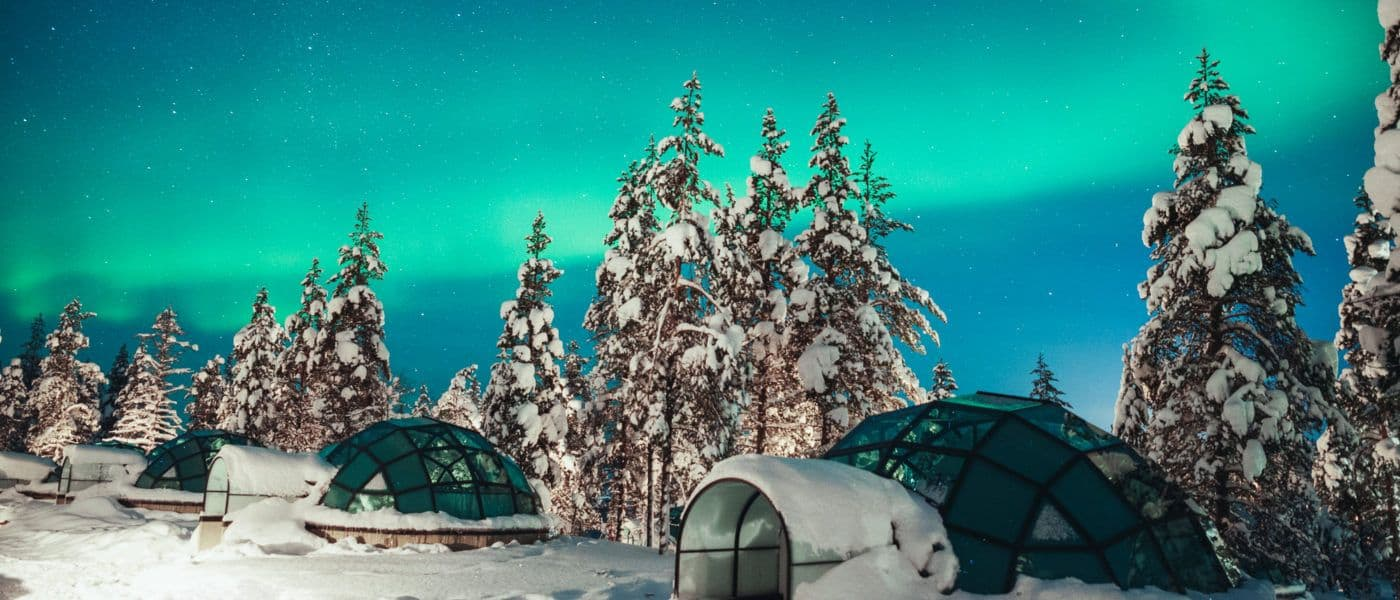 Kakslauttanen glass igloo Northern Lights