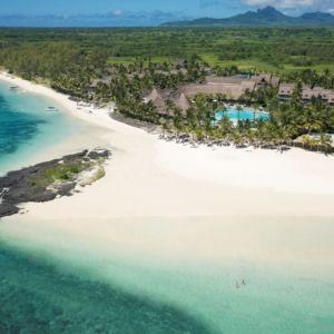 Lux Belle Mare Mauritius aerial photo
