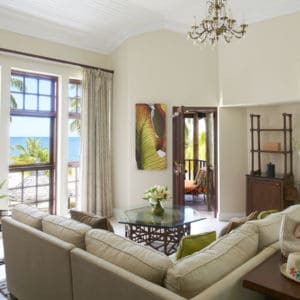Luxury Beachfront Suite living room