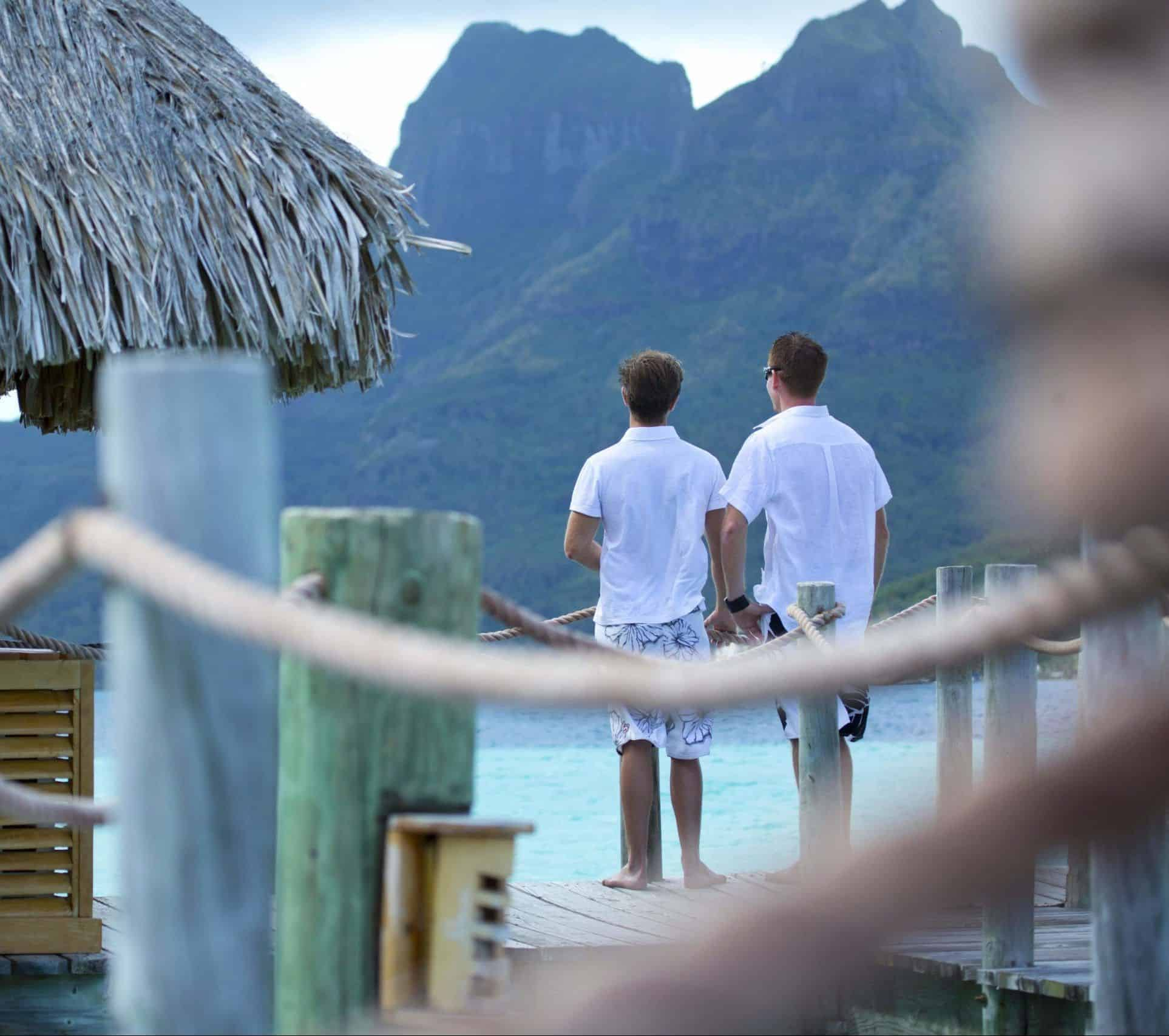 Tahiti gay couple French Polynesia