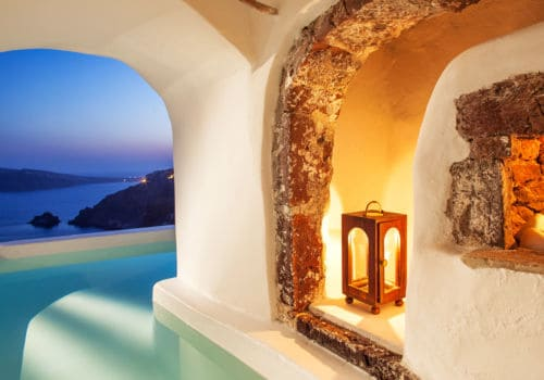 Canaves Oia Suites river pool suite