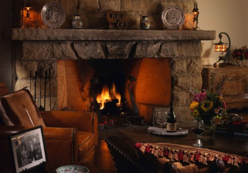 San Ysidro Ranch fireplace
