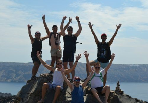 Santorini gay group vacation