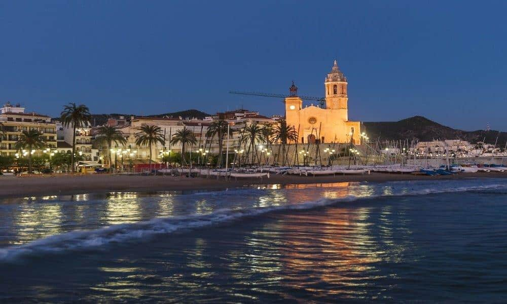 Sitges at night