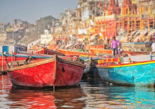 Varanasi India boats