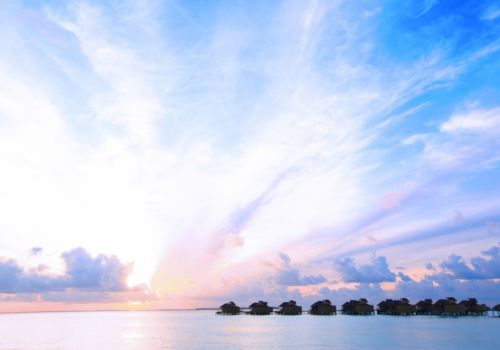 Six Senses Laamu sunset