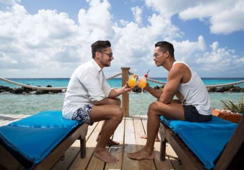 Gay couple in Aruba