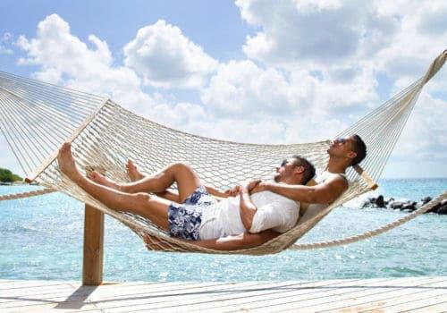 Gay couple in Aruba