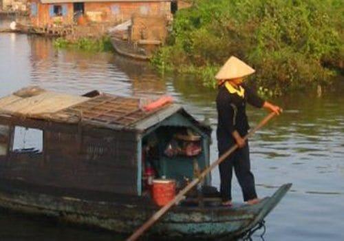Battambang Cambodia boat