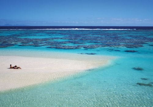 The beach at Brando French Polynesia