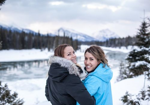 Canada Lesbian Mountain couple