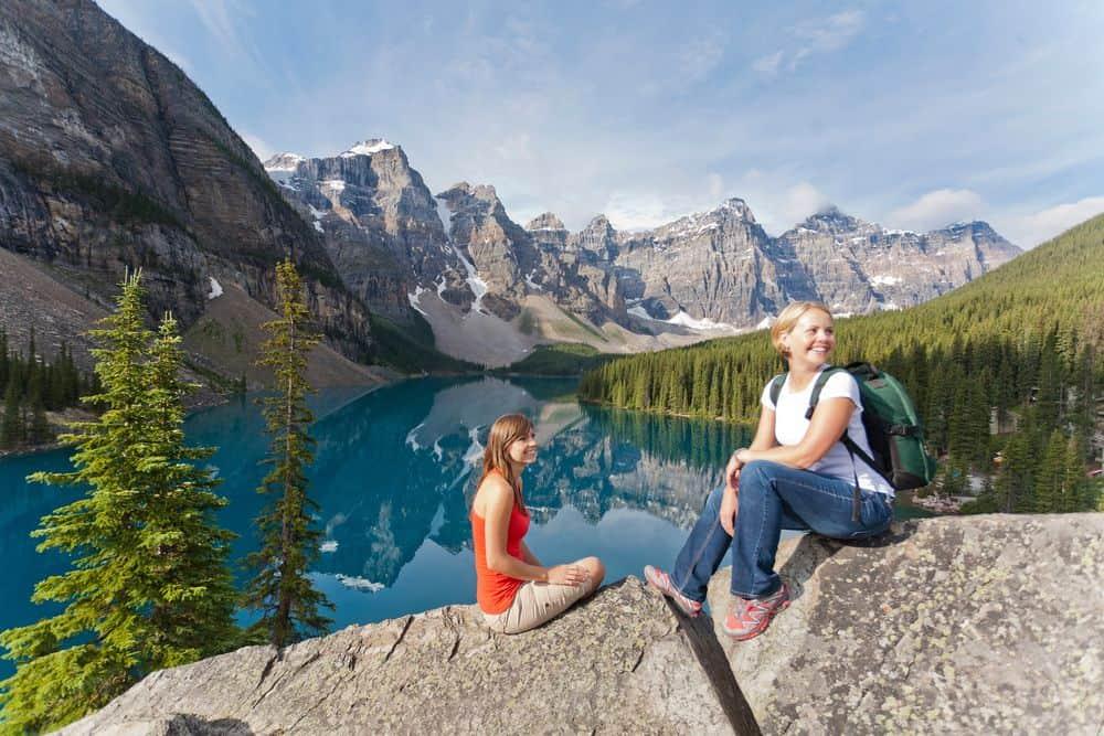 Canada mountain lesbian couple