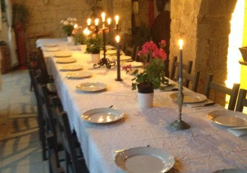 candlelight dinner table