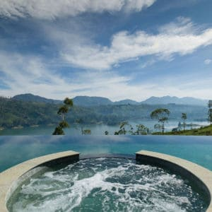 Infinity pool at Ceylon Tea Trails