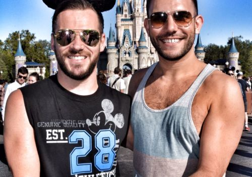Gay couple at Walt Disney World Florida