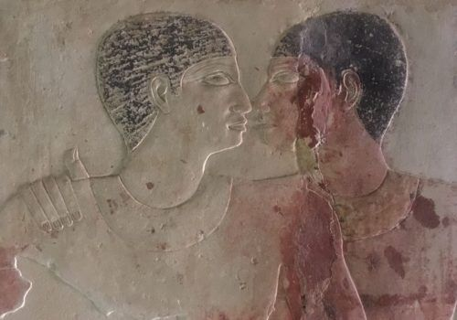 Egyptian temple gay imagery