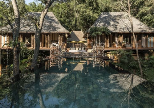 pool at Four Seasons Tented Camp Golden Triangle Thailand