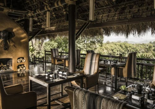 Dining at Four Seasons Tented Camp Golden Triangle Thailand