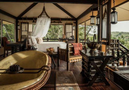 Superior Tent at Four Seasons Tented Camp Golden Triangle Thailand