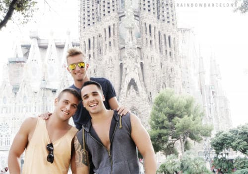 Gay friends in Barcelona