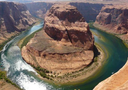Horseshoe bend in Lake Powell Page Arizona