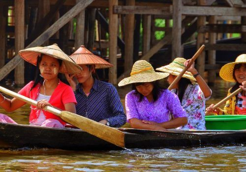 Inle Lake locals in Myanmar
