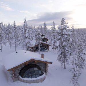 Kakslauttanen Kelo Glass Igloo Aerial