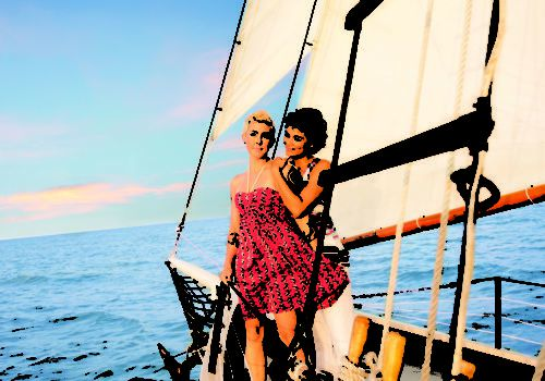 Lesbian sailing in Key West