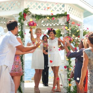 Lesbian wedding in Key West