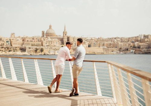Gay couple in Malta