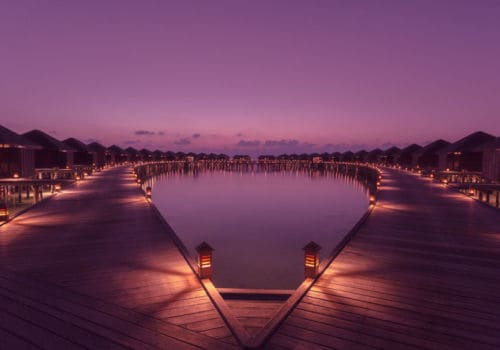 Lily Beach Resort And Spa at night