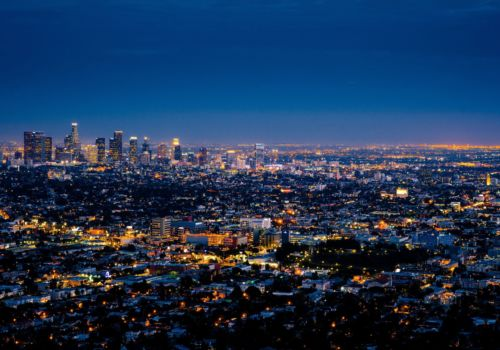 Los Angeles USA at night