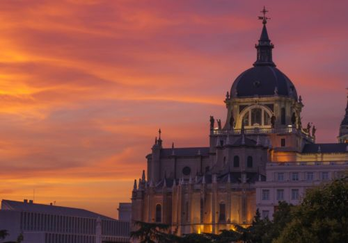 Madrid sunset