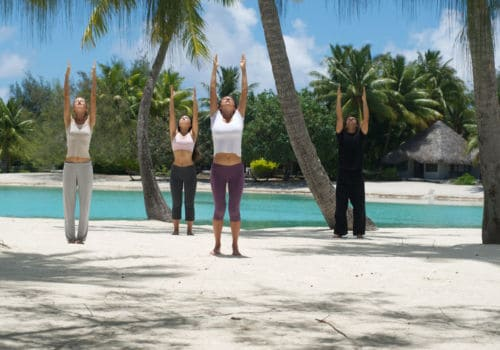 Meridien Bora Bora yoga class