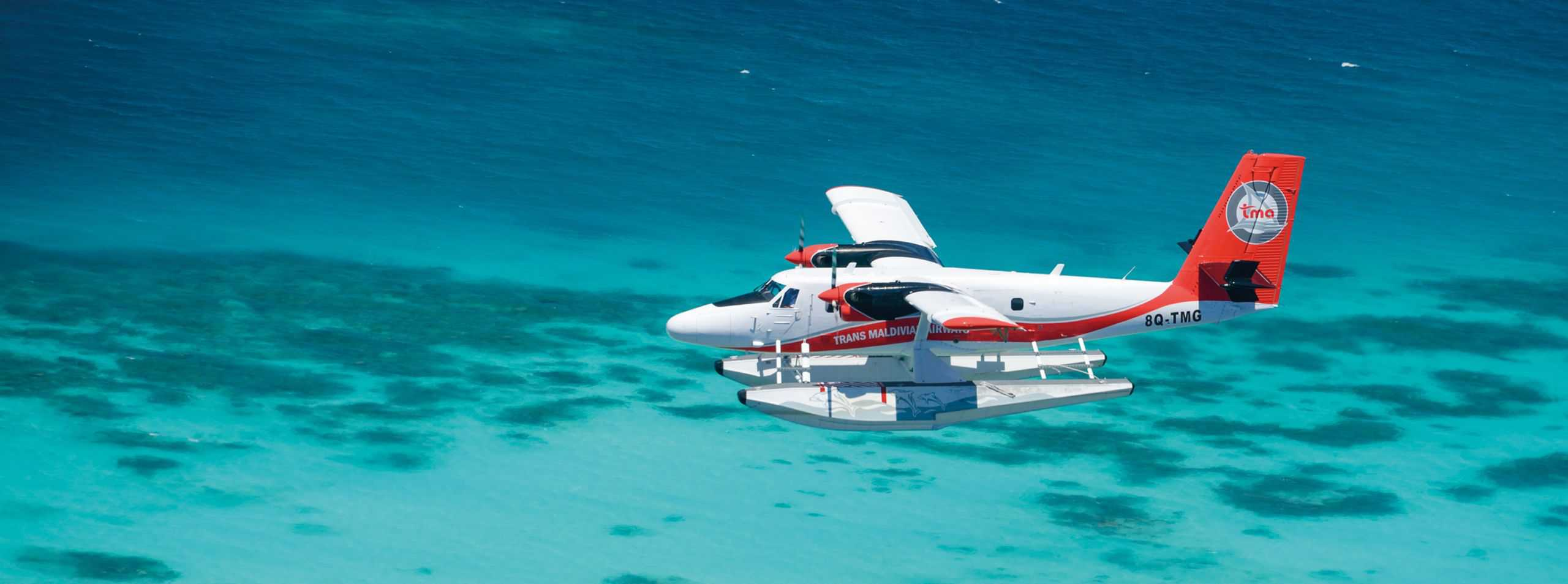 Seaplane in the Maldives