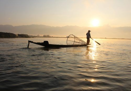 Fisherman on Inle Lake Myanmar