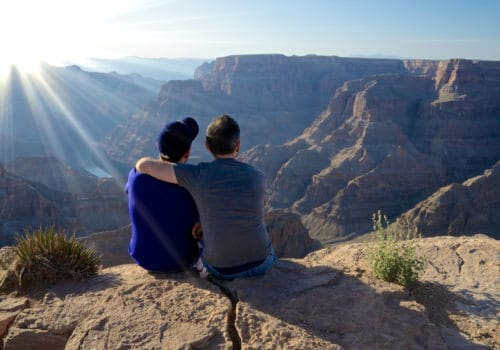Gay couple at Grand Canyon