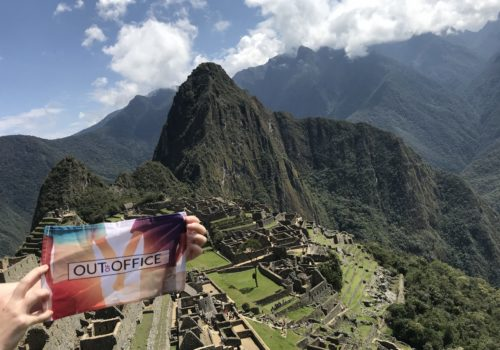 OutOfOffice flag at Machu Picchu in Peru